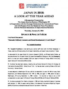 JAPAN IN 2016: A LOOK AT THE YEAR AHEAD