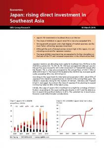 Japan: rising direct investment in Southeast Asia