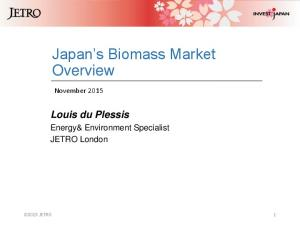 Japan s Biomass Market Overview