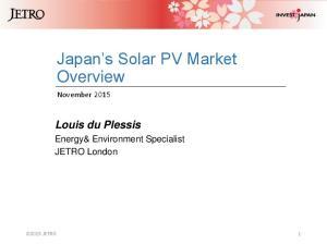 Japan s Solar PV Market Overview