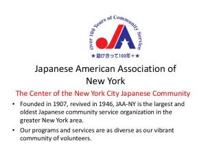 Japanese American Association of New York