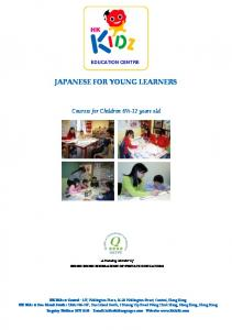 JAPANESE FOR YOUNG LEARNERS