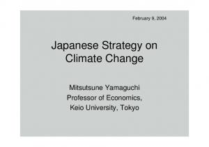 Japanese Strategy on Climate Change