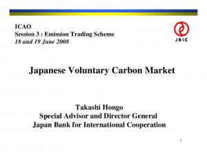 Japanese Voluntary Carbon Market