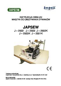 JAPSEW J 2502 J 2503 J 2502K J 2503K J 2501K