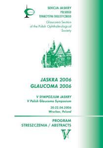 JASKRA 2006 GLAUCOMA 2006
