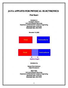 JAVA APPLETS FOR PHYSICAL ELECTRONICS