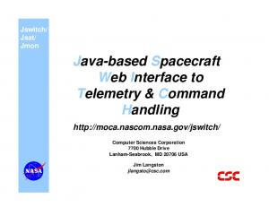 Java-based Spacecraft Web Interface to Telemetry & Command Handling