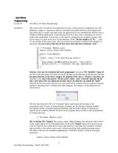 Java Basics for Game Programming