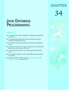 JAVA DATABASE PROGRAMMING