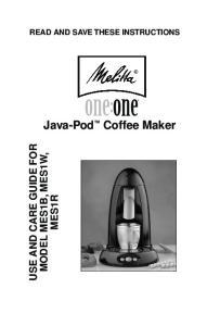 Java-Pod Coffee Maker