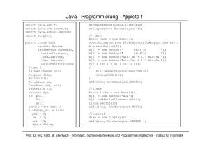 Java - Programmierung - Applets 1