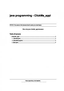 java programming - ClickMe_appl