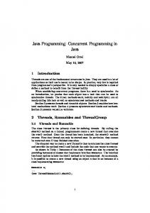 Java Programming: Concurrent Programming in Java