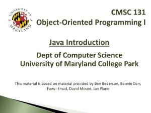 Java Programming Language Basic Java Concepts Sample Java Program