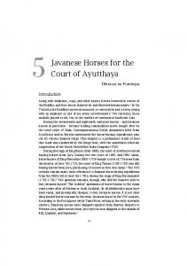 Javanese Horses for the Court of Ayutthaya