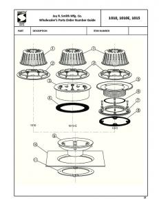Jay R. Smith Mfg. Co. Wholesaler s Parts Order Number Guide 1010, 1010E, 1015 PART DESCRIPTION ITEM NUMBER E 1015