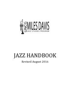 JAZZ HANDBOOK Revised August 2016