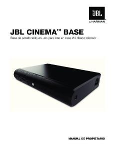 JBL CINEMA BASE Base de sonido todo-en-uno para cine en casa 2.2 desde televisor