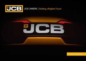 JCB CAREERS Building a Brighter Future. Graduates & Undergraduates