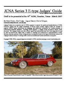 JCNA Series 3 E-type Judges Guide