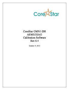JEAG Calibration Software Rev 6.4
