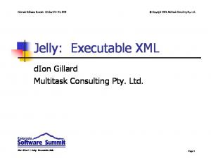 Jelly: Executable XML
