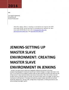 JENKINS-SETTING UP MASTER SLAVE ENVIRONMENT: CREATING MASTER SLAVE ENVIRONMENT IN JENKINS