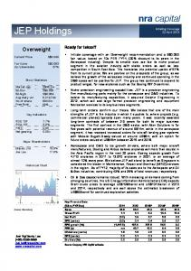 JEP Holdings. Overweight. Ready for takeoff