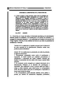 JERARQUIA ADMINISTRATIVA. PRINCIPIO DE