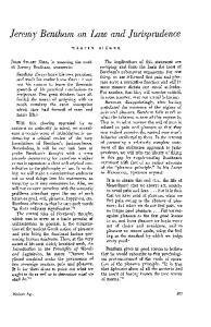 Jeremy Bentham on Law and Jurisprudence