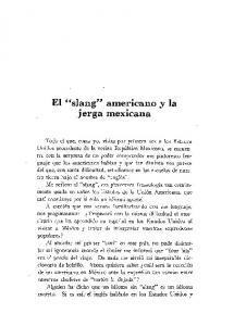 jerga mexicana El