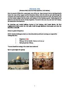 JERUSALEM TOUR (Western Wall, Church of Holy Sepulchre, Yad Vashem)