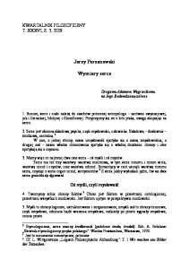 Jerzy Perzanowski. Wymiary serca