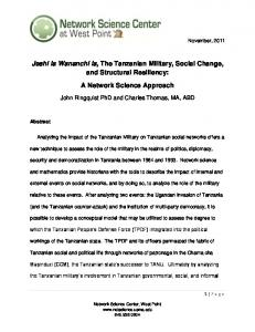 Jeshi la Wananchi la, The Tanzanian Military, Social Change, and Structural Resiliency: A Network Science Approach
