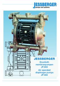 JESSBERGER Druckluftmembranpumpen. JP-800 Air operated diaphragm pumps JP-800