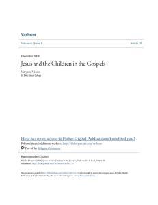 Jesus and the Children in the Gospels