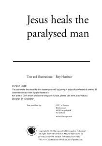 Jesus heals the paralysed man