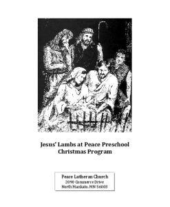Jesus Lambs at Peace Preschool Christmas Program