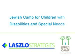 Jewish Camp for Children with Disabilities and Special Needs
