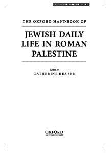 JEWISH DAILY LIFE IN ROMAN PALESTINE