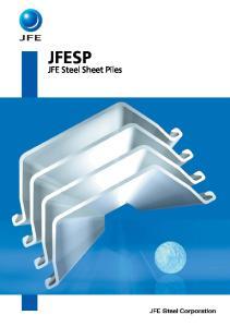 JFESP. JFE Steel Sheet Piles