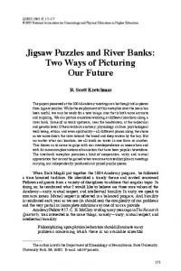 Jigsaw Puzzles and River Banks: Two Ways of Picturing Our Future