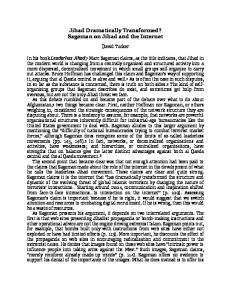 Jihad Dramatically Transformed? Sageman on Jihad and the Internet