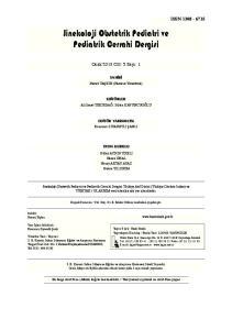 Jinekoloji Obstetrik Pediatri ve Pediatrik Cerrahi Dergisi