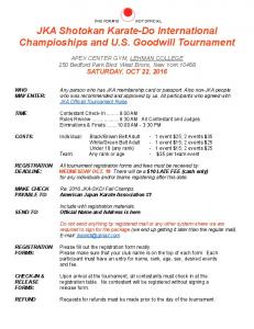 JKA Shotokan Karate-Do International Champioships and U.S. Goodwill Tournament