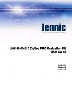 JN5148-EK010 ZigBee PRO Evaluation Kit User Guide