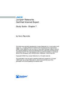 JNCIE Juniper Networks Certified Internet Expert