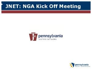 JNET: NGA Kick Off Meeting