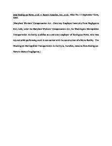 Joao Rodrigues-Novo, et al. v. Recchi America, Inc., et al., Misc No. 11 September Term, 2003